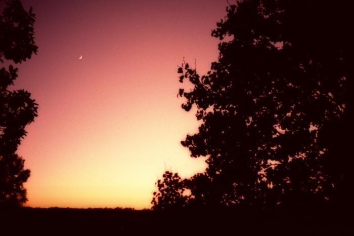Crescent Moon, Molten Sky